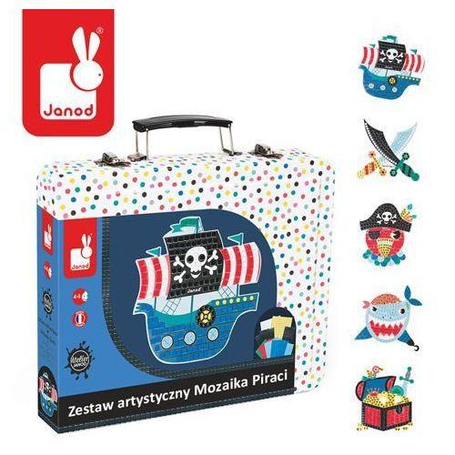 Zestaw artystyczny mozaika piraci - zabawki dla dzieci marki Janod