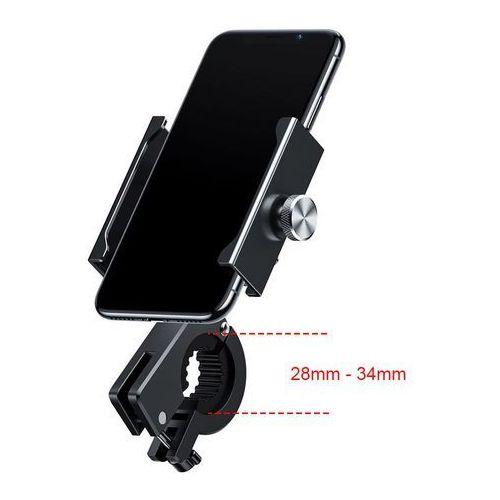 knight metalowy uchwyt do telefonu na rower motor motocykl na kierownicę czarny (crjbz-01) - czarny marki Baseus