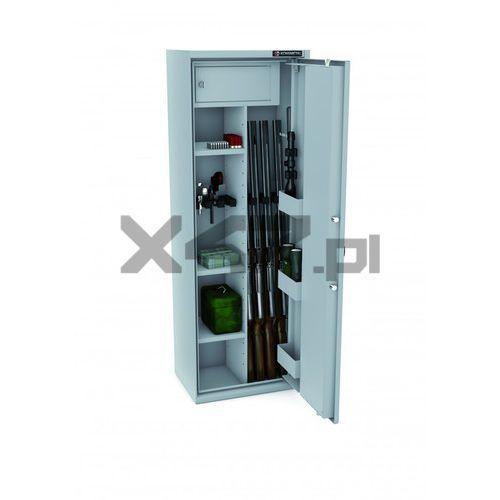 Konsmetal Szafa na broń długą mlb 150d/4+4 el s1 - zamek elektroniczny