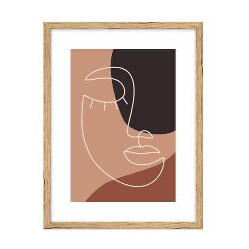 Knor Obraz twarz i liście rycina 30 x 40 cm