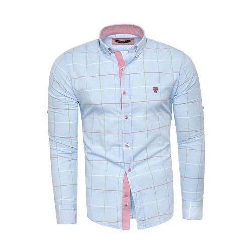 Koszula męska długi rękaw rl01 - niebieska, w 5 rozmiarach
