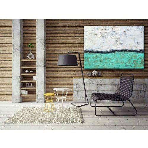 Obrazy do salonu ręcznie malowane. Turkus na obrazie. Obraz nowoczesny