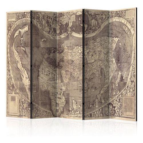 Parawan 5-częściowy - parawan: mapa ( amerigo vespucci! ) marki Artgeist