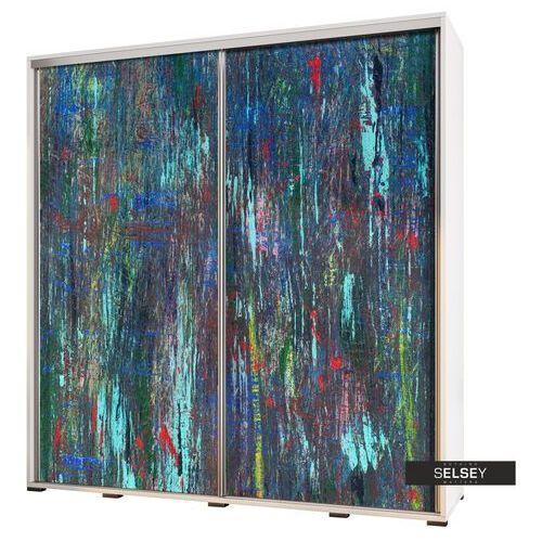 Selsey szafa wenecja 205 cm abstrakcja paw