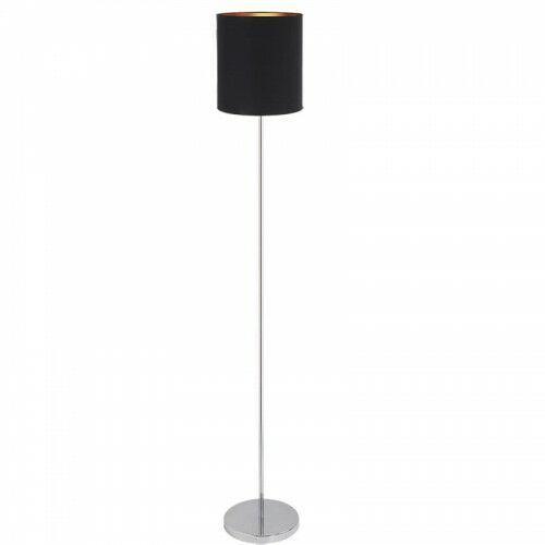 Lampa podłogowa Rabalux Monica 2524 lampa stojąca 1x60W E27 czarny / złoty / chrom (5998250325248)