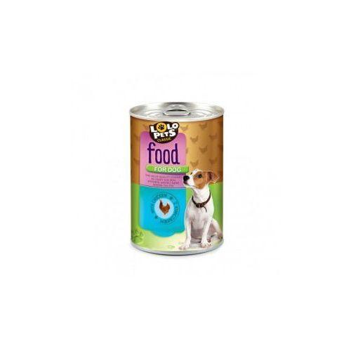 LOLO PETS Food For Dog kurczak w sosie 410g- RÓB ZAKUPY I ZBIERAJ PUNKTY PAYBACK - DARMOWA WYSYŁKA OD 99 ZŁ
