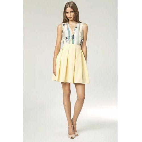 Sukienka - żółty/paski - S42