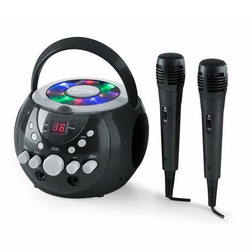 auna SingSing Przenośny zestaw karaoke LED Zasilanie bateryjne 2 x mikrofon