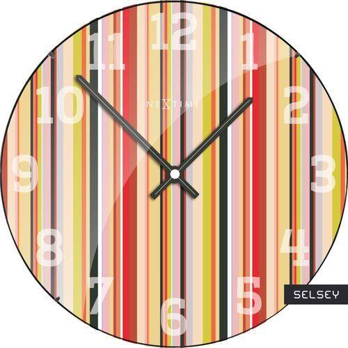 Selsey zegar szklany smilthy dome średnica 35cm marki Nextime