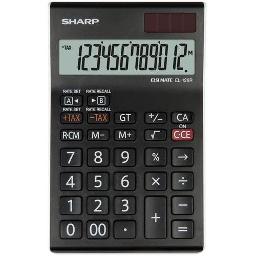 Sharp Kalkulator el126rwh czarny