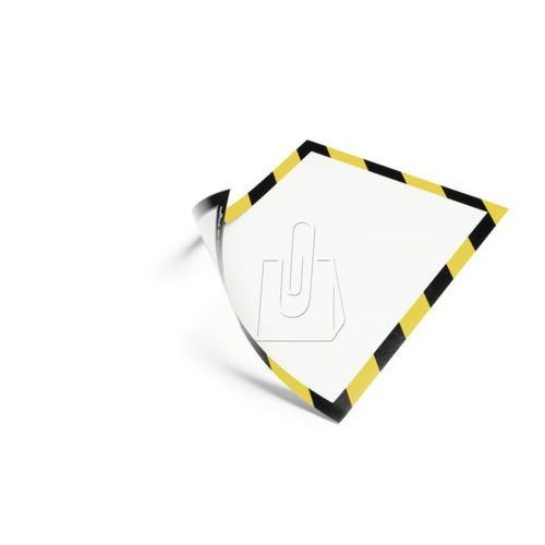 Durable Ramka duraframe magnetic security  a4 żółto-czarna 5 sztuk 4945-130