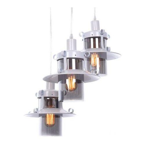 Potrójna lampa wisząca industrialna loft biała capri w3 marki Lumina deco