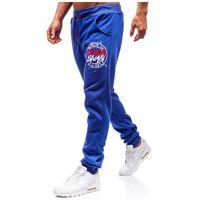 Spodnie męskie dresowe joggery niebieskie denley 55086, J.style