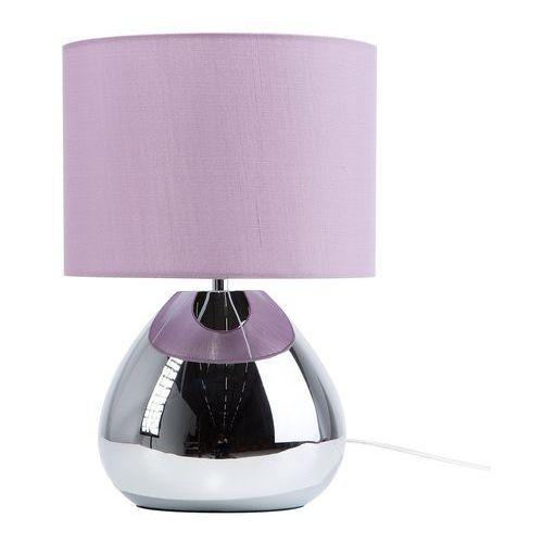 Beliani Lampka stołowa fioletowa ronava s