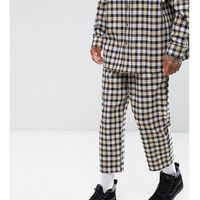 Reclaimed Vintage Inspired Relaxed Trousers In Flannel Check - Yellow, 1 rozmiar