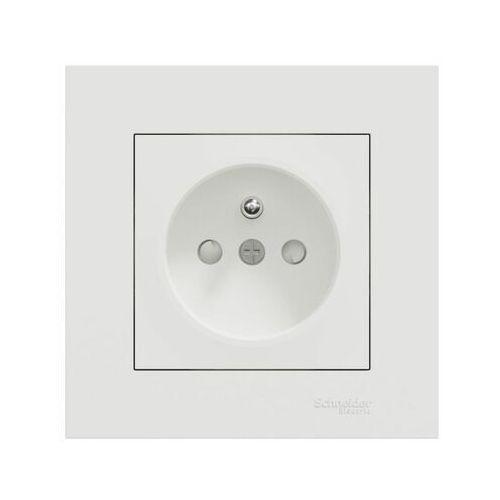 Schneider electric Gniazdo pojedyncze z uziemieniem miluz ed biały (3606481920690)