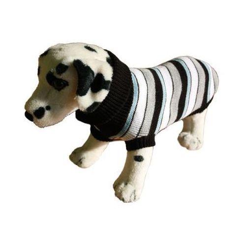 Ami play  sweter dla psa paski z szarym rozmiary 1-6