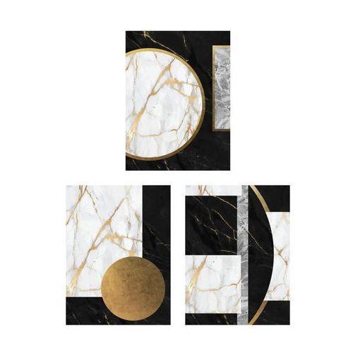 Art canvas Zestaw 3 plakatów glamour marmur 30 x 40 cm