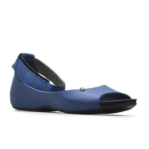 Sandały Lemar 40026 Niebieskie+Roma popiel