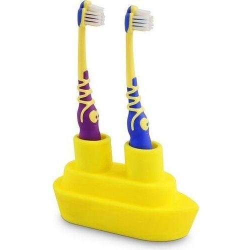 J-me Stojak na szczoteczki do zębów podwójny boat żółty (5060105291500)