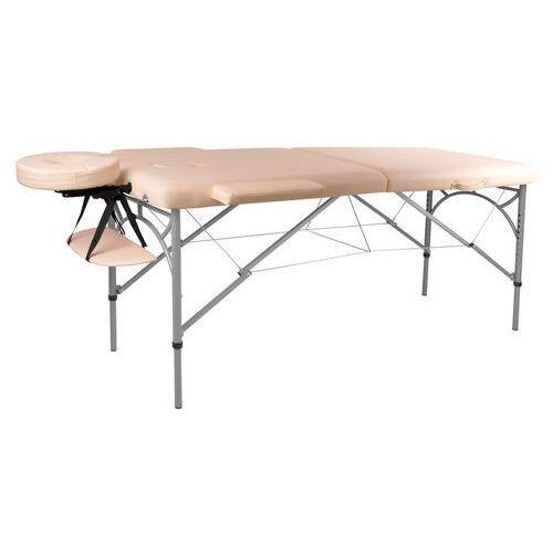 OKAZJA - Profesjonalny stół do masażu inSPORTline Tamati, Kremowo-biały (8595153706494)