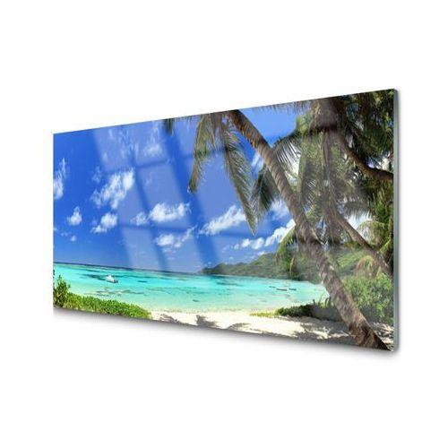 Tulup.pl Obraz na szkle palma drzewo morze krajobraz