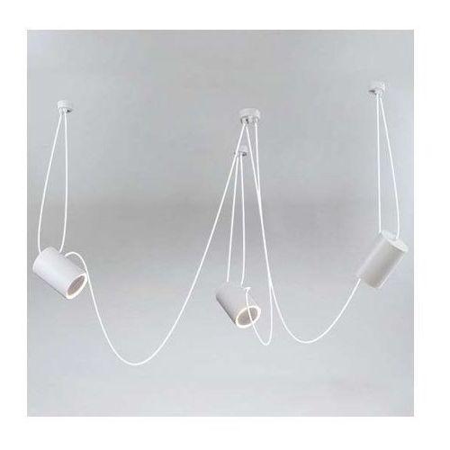 LAMPA wisząca DUBU 9027/E14/SZ Shilo metalowa OPRAWA modernistyczny zwis tuby szare, kolor Szary