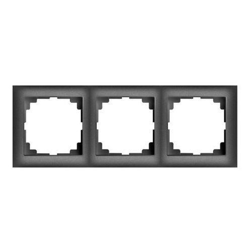 Elektro-plast Ramka potrójna sentia pion/poziom czarna (5902431695020)