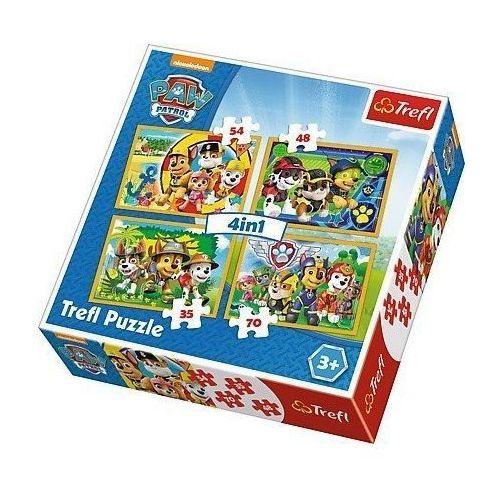 Puzzle 4w1 - Psi Patrol, Zawsze na czas