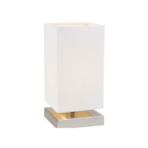 Stojąca LAMPA stołowa NANGA 7070102 Spotlight abażurowa LAMPKA nocna na dotyk biała