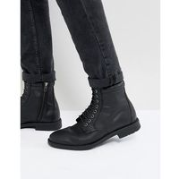 Kg By Kurt Geiger Military Lace Up Boots Black - Black, kolor czarny