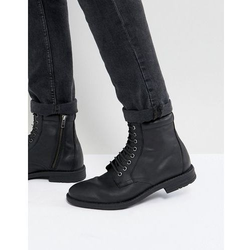 Kg By Kurt Geiger Military Lace Up Boots Black - Black