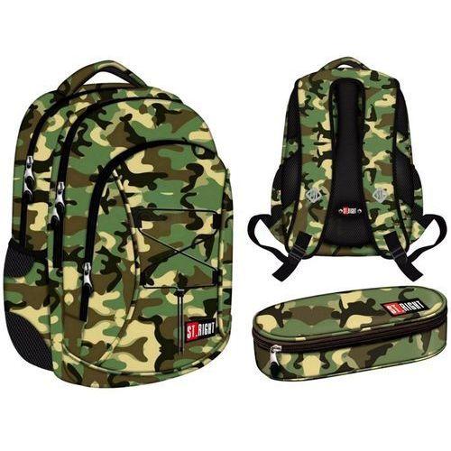 St.right plecak szkolny 3-komorowy bp32 moro marki St. majewski