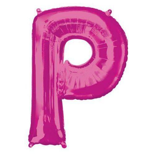 Balon foliowy różowa litera p - 60 x 81 cm - 1 szt. marki Amscan