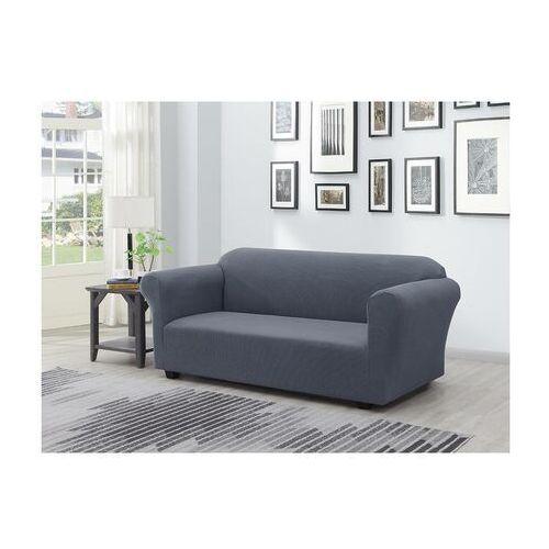 Rozciągliwy pokrowiec na sofę naples – dł. 230 cm – kolor antracytowy marki Vente-unique.pl