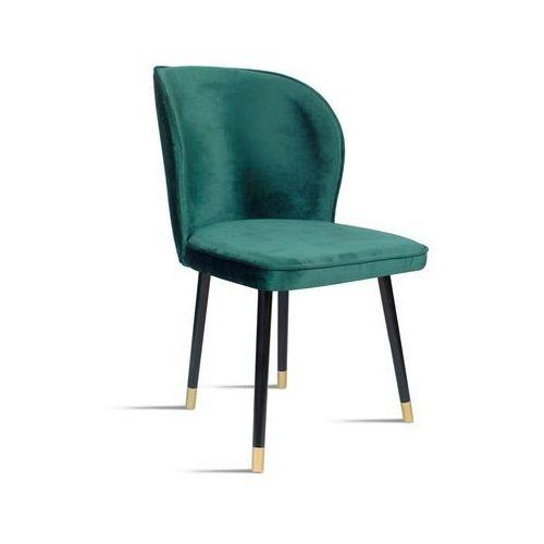 Krzesło RINO morski/ noga czarny gold/ SO259, kolor czarny