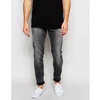 G-Star Jeans Defend Super Slim Skinny Fit Slander Grey Superstretch Light Aged - Grey, kolor szary