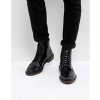 darcy hi shine leather lace up boots - black marki Walk london