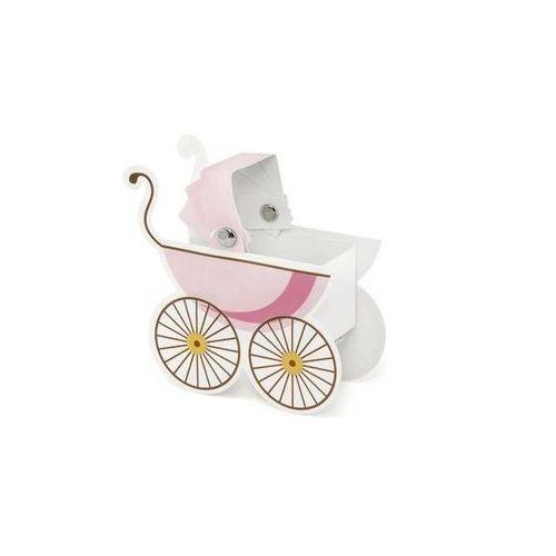 Party deco Pudełeczka dla gości wózeczek różowy - 10 szt.