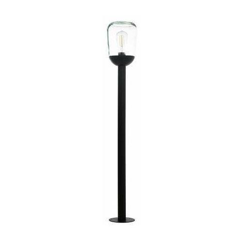 Eglo Donatori 98703 lampa stojąca zewnętrzna IP44 1x60W E27 transparentna/czarna