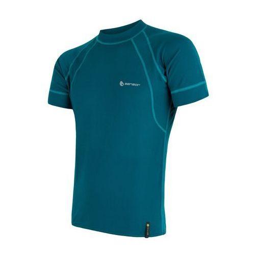 Bielizna termoaktywna double face men's t-shirt short sleeves niebieski/turkus s marki Sensor