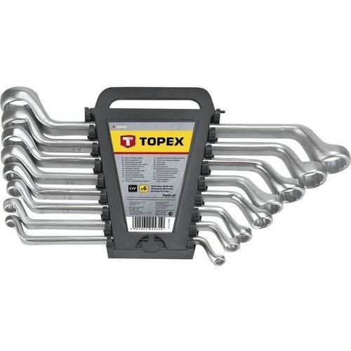 Topex Zestaw kluczy oczkowych 35d855 odgiętych 6 - 17 mm (6 elementów)