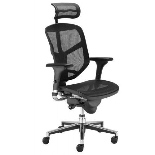 Krzesło obrotowe ENJOY r hrma - z zagłówkiem, biurowe, fotel biurowy, obrotowy