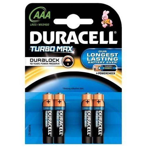4 x bateria alkaliczna Duracell Duralock Turbo Max LR03 AAA (blister), MN2400