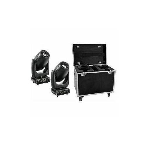 FUTURELIGHT Zestaw 2x DMH-200 LED Moving-Head + Case, 20000544