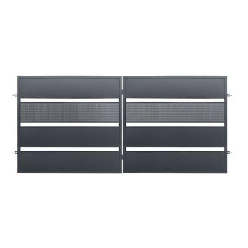 Brama dwuskrzydłowa Polbram Steel Group Tebe 3,5 x 1,58 m ocynk antracyt (5901122311126)