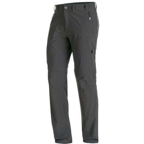 runbold spodnie długie mężczyźni szary de 56 2018 spodnie z odpinanymi nogawkami marki Mammut