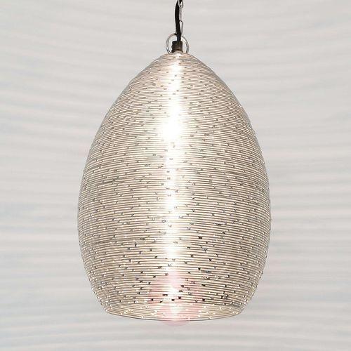 Holländer COLIBRI lampa wisząca Srebrny, 1-punktowy - Nowoczesny - Obszar wewnętrzny - COLIBRI - Czas dostawy: od 2-3 tygodni