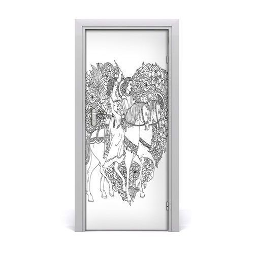 Naklejka samoprzylepna na drzwi Kobieta i mężczyzna