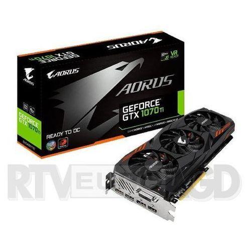 Gigabyte AORUS GeForce GTX 1070 Ti 8GB GDDR5 256bit - produkt w magazynie - szybka wysyłka!, GV-N107TAORUS-8GD
